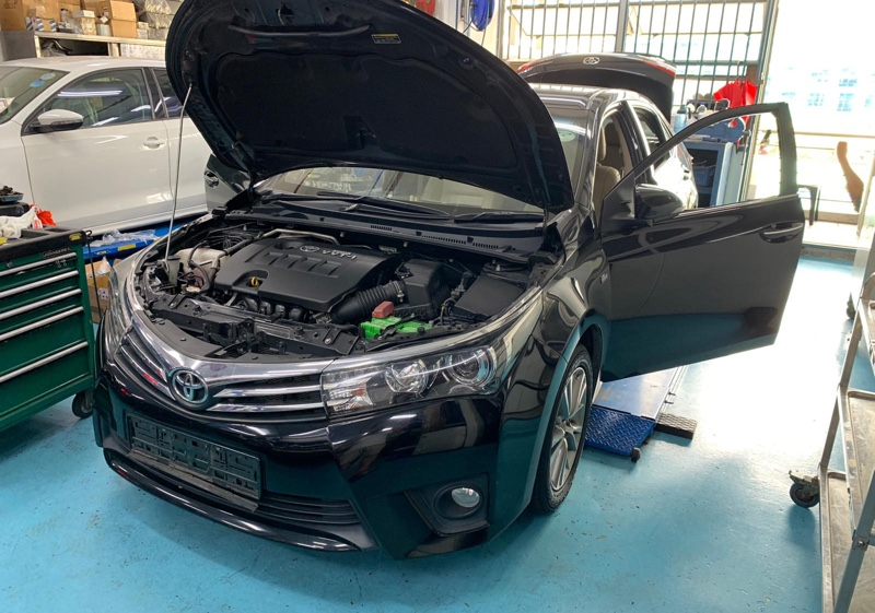 Replaced leaking aircon evaporator cooling coil for Toyota Altis